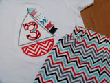 Chevron Sailboat Set Sailboat Birthday Shirt Boys Chevron Boat Outfit