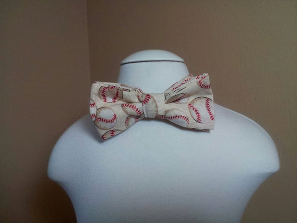 baseball child sized bowtie dress up bow tie
