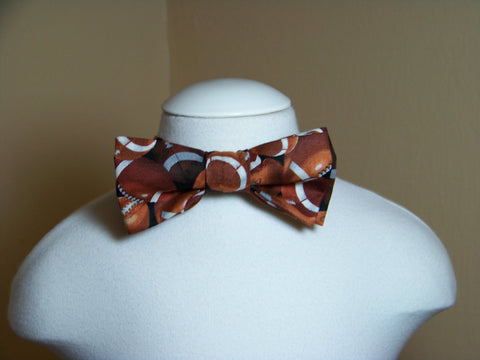 Football Themed child sized bowtie ball game bow tie