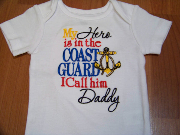 My Hero is in the Coast Guard Personalized Shirt Coast Guard Shirt