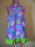 Peacock Halter Dress Purple and Green Peacock Dress