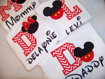Family Set of four MR Mouse personalized Mickey Mouse Set of Four Minnie inspired shirt