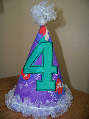 Little Mermaid Birthday Hat Ariel Party Hat