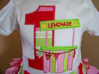 Strawberry Lemonade first birthday little lady shirt girls  first birthday 1st birthday shirt