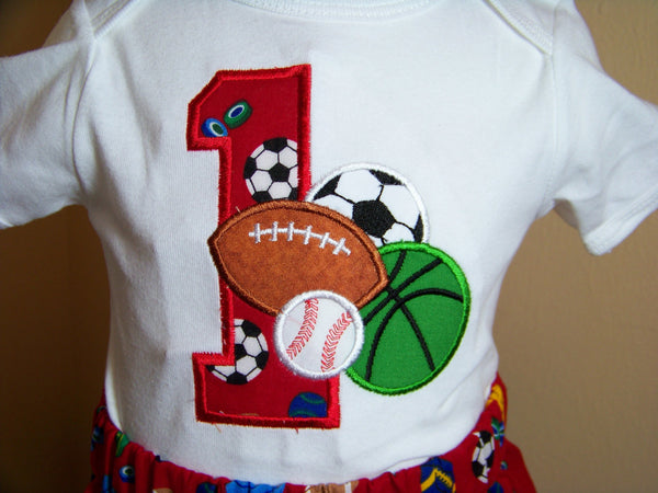boys birthday sports themed birthday shirt football baseball socar ball basket ball