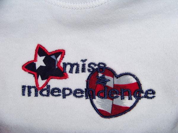 Miss Independence 4th of July Shirt Red White and Blue Patriotic Shirt