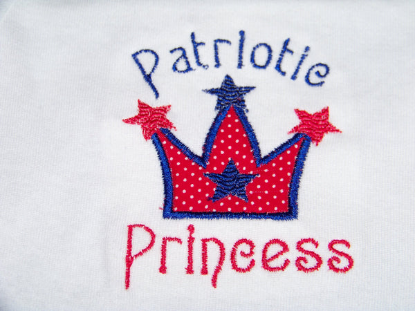 Patriotic Princess 4th of July Shirt Red White and Blue Patriotic Shirt
