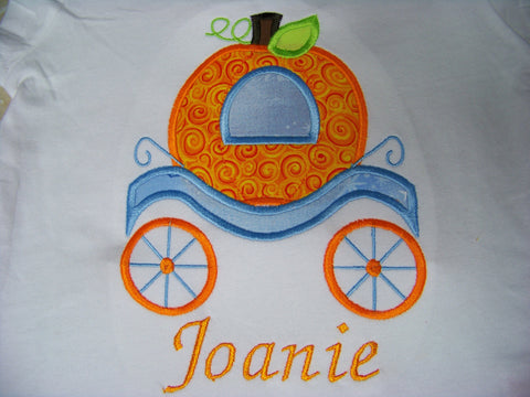 Cinderella's pumpkin carriage shirt cinderella personalized pumpkin shirt