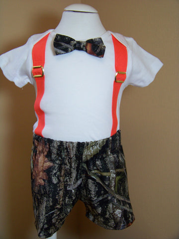bow tie and camo shorts set baby boys camouflage outfit