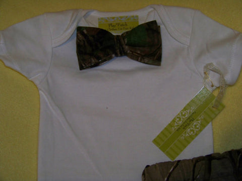 camo bow tie  shirt great baby shower gifts camoflauge bowtie shirt