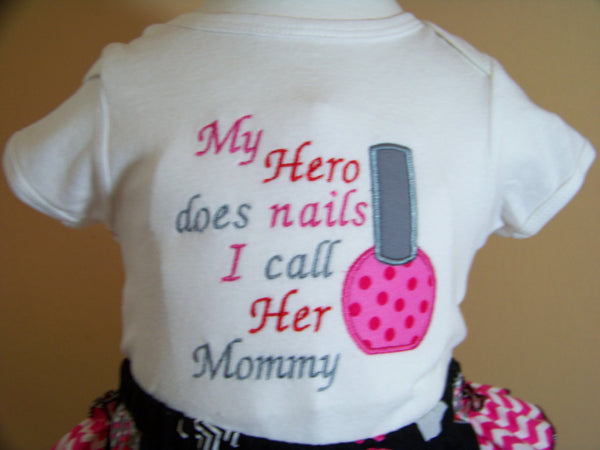 My Hero does nails shirt mommy daddy nana papa personalized nail tech shirt t-shirt