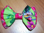 Boots hair bow your choice of clip girls Dora cloth hairbow