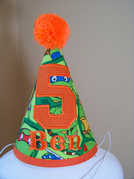 Ninja Turtle  Birthday Hat Teenage Mutant Ninja Turtle Themed Party Hat