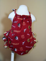 FSU baby ruffle bottom halter Florida State University Romper Seminoles Bubble