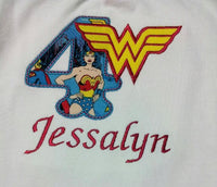Wonder Woman shirt Super Hero Birthday Shirt Princess Birthday