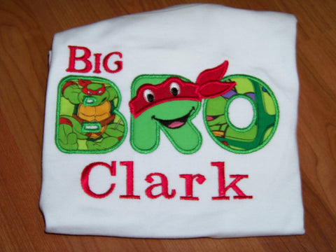 Middle Bro Personalized Turtle Shirt