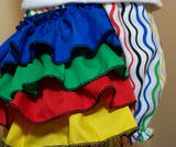 Rainbow Bloomers Rainbow themed Diaper Cover Ruffled Bottom Diaper Cover