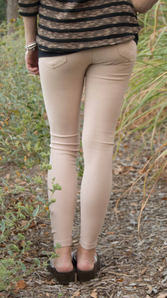 Cream Jeggings