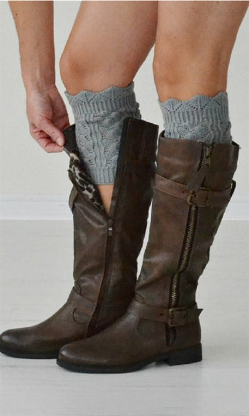 Boot Cuffs - Grey