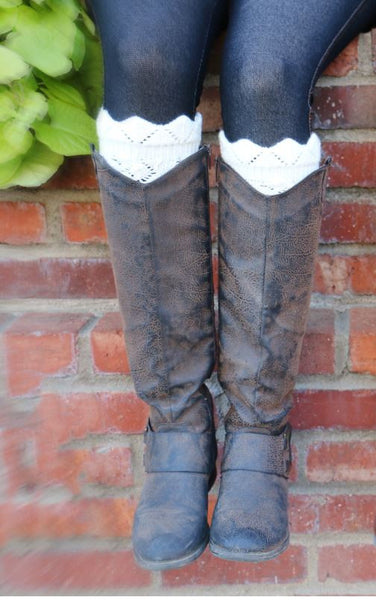 Boot Cuffs-White