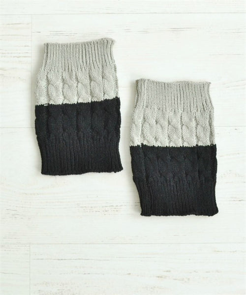 Reversible boot cuffs-Grey