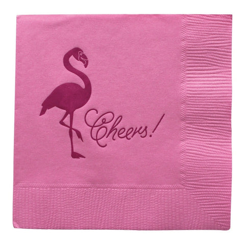 Revel & Co. Flamingo Cocktail Napkins