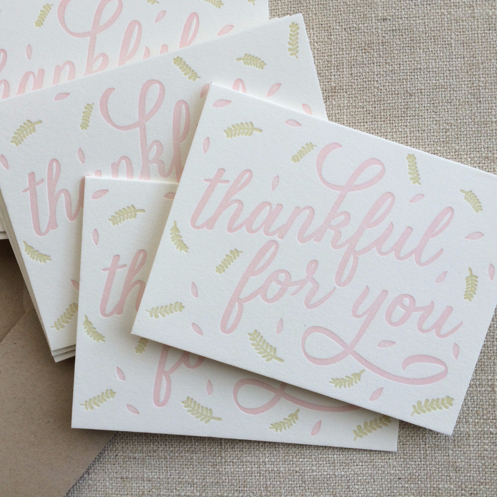 swell press paper thankful for you card paper by parcel
