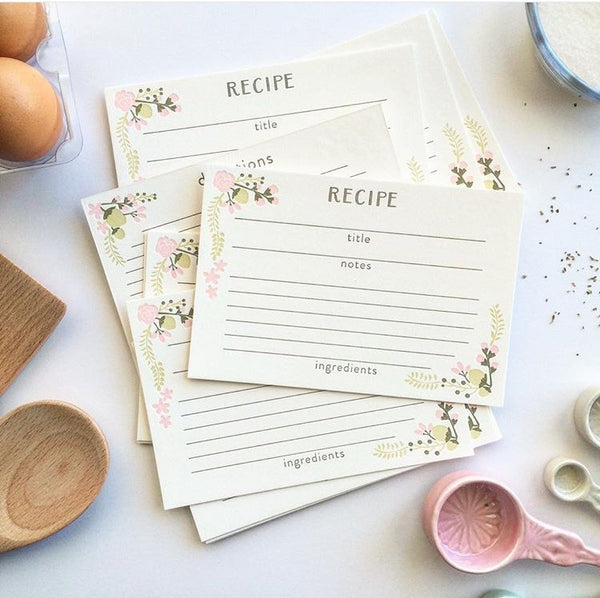Swell Press Paper Recipe Cards
