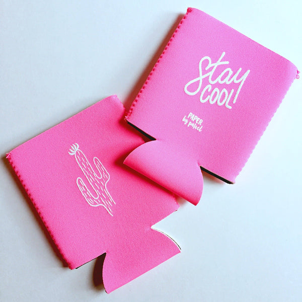 Paper By Parcel Stay Cool Cactus Koozie
