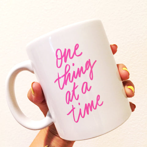 Paper By Parcel One Thing At A Time Mug
