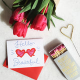 Little Arrow 'Hello Beautiful Heart Sunnies' Card