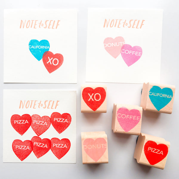 Paper Pastries Conversation Heart Rubber Stamps