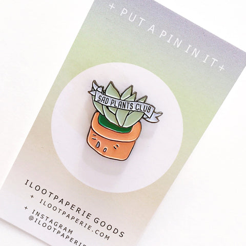 iLootPaperie Sad Plants Pin