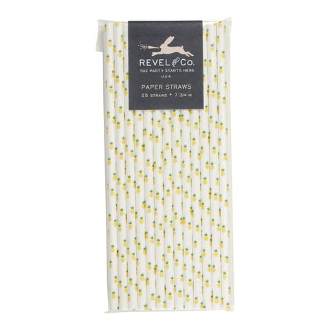Revel & Co. Pineapple Paper Straws