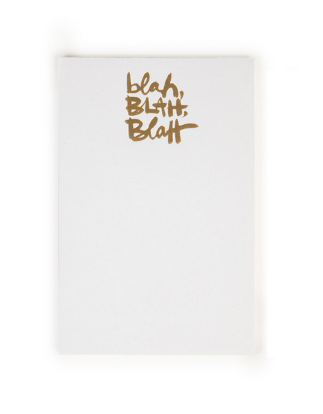 The Social Type 'Blah Blah Blah' Notepad
