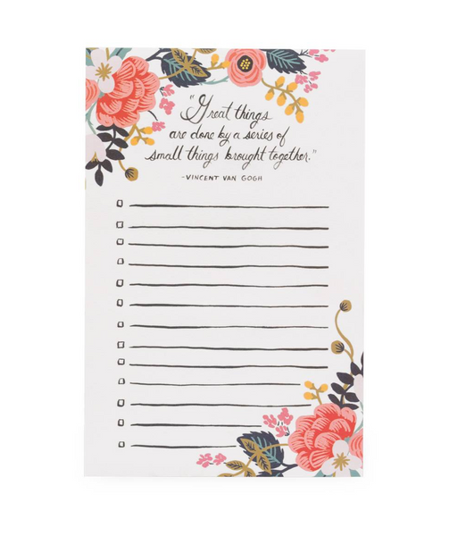 Rifle Paper Co. Great Things Tear Off Notepad