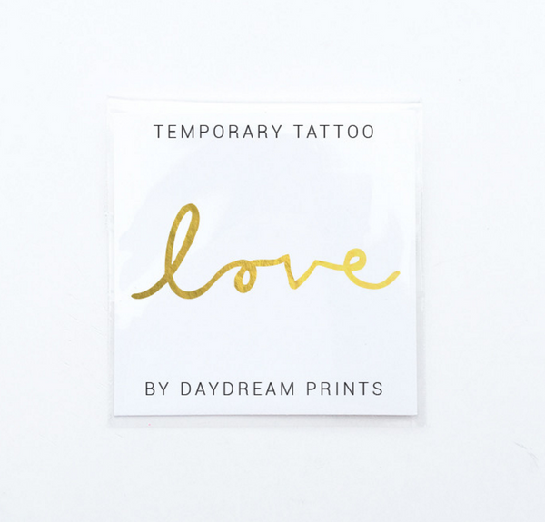 Daydream Prints Single 'Love' Flash Tattoo
