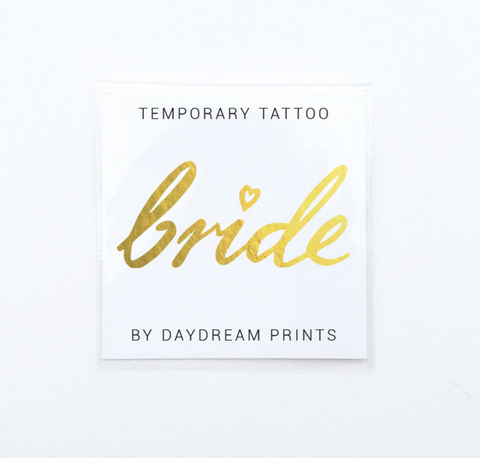 Daydream Prints Single 'Bride' Flash Tattoo