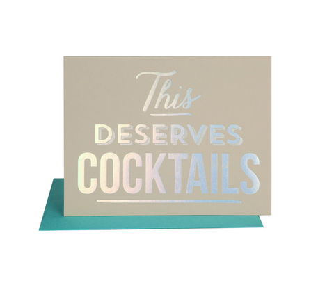 The Social Type 'Deserves Cocktails' Card