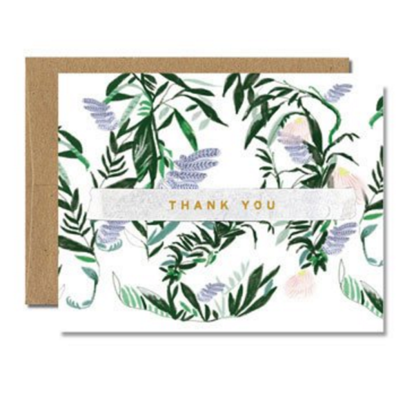 Ferme A Papier French Fern Thank You Card