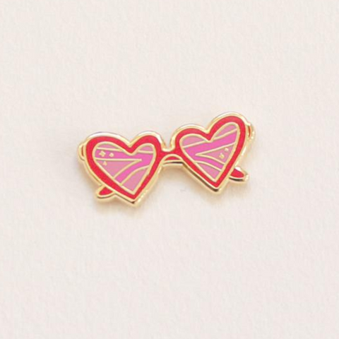 Little Arrow Heart Sunnies Lapel Pin