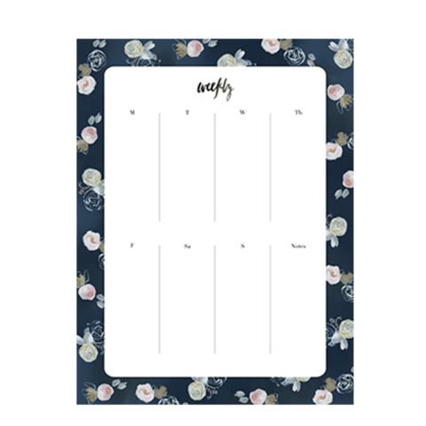 Our Heiday 'Blue Florals' Agenda Pad