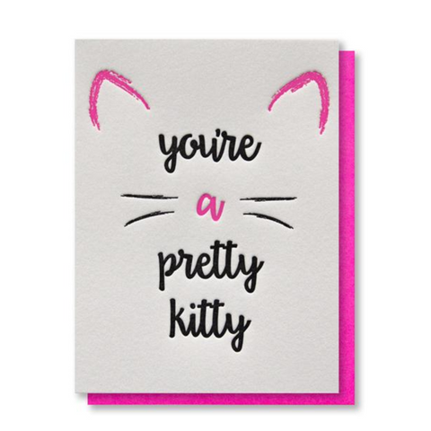 Kiss And Punch 'Pretty Kitty' Card