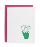 Underwood Letterpress Cactus Card