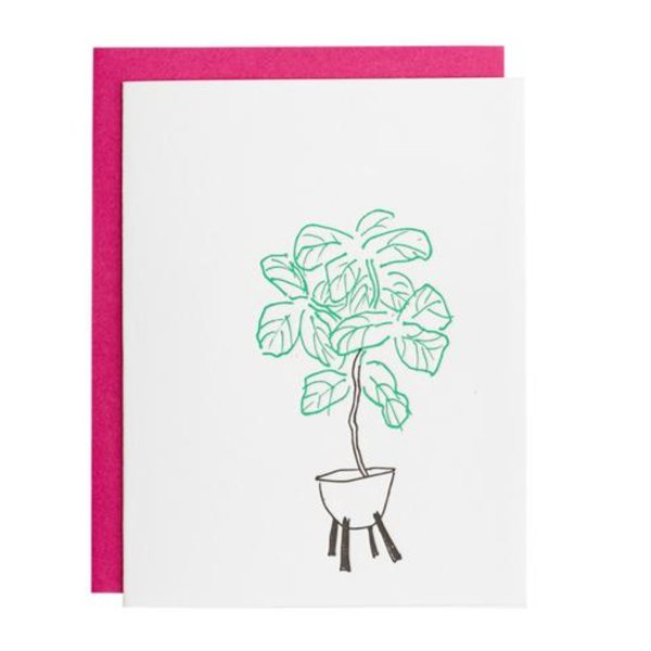 Underwood Letterpress Fiddle Leaf Fig Card