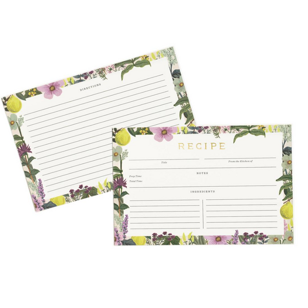 Rifle Paper Co. Herb Garden Recipe Cards