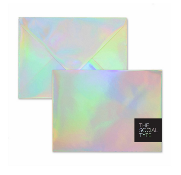 The Social Type Hologram Envelope & Notecard Set