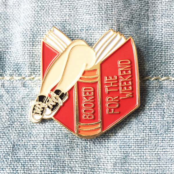 ilootpaperie Book Lover Lapel Pin