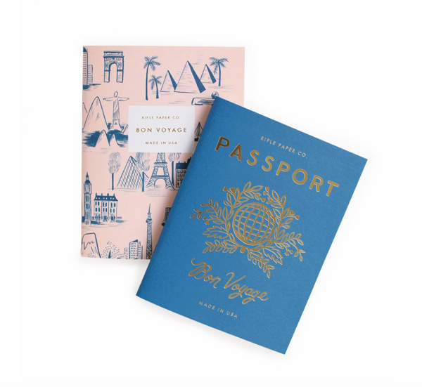 Rifle Paper Co. Passport Pocket Notebook Pair