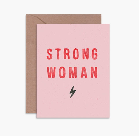 Daydream Prints Strong Woman Card